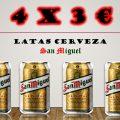LLÉVATE 4 LATAS DE CERVEZA, POR 3  €