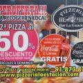 LA SEGUNDA PIZZA AL 50%